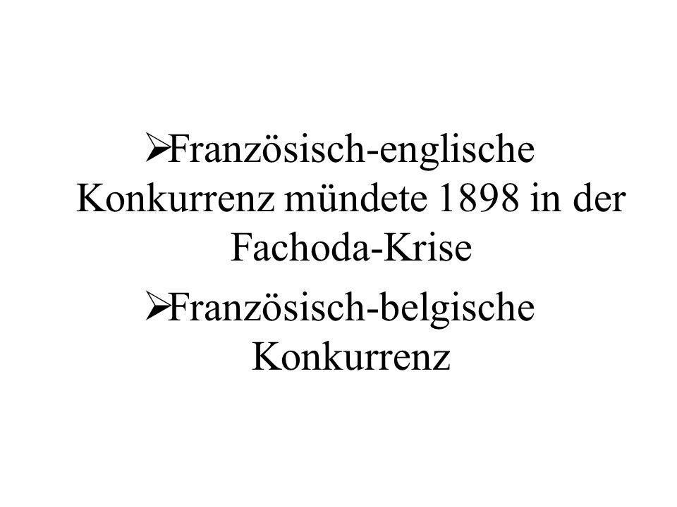 Französisch-englische Konkurrenz mündete 1898 in der Fachoda-Krise