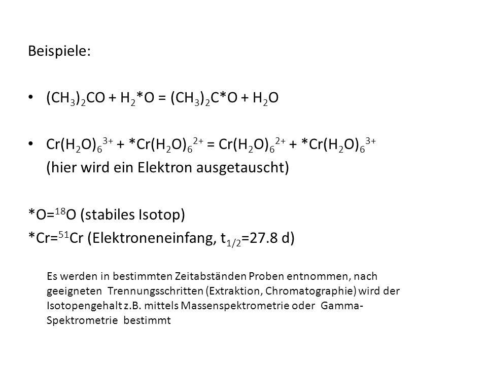 (CH3)2CO + H2*O = (CH3)2C*O + H2O