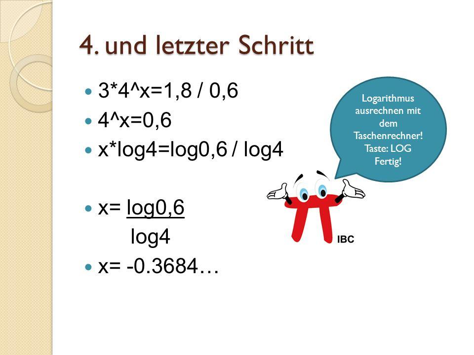 Logarithmus ausrechnen mit dem Taschenrechner!