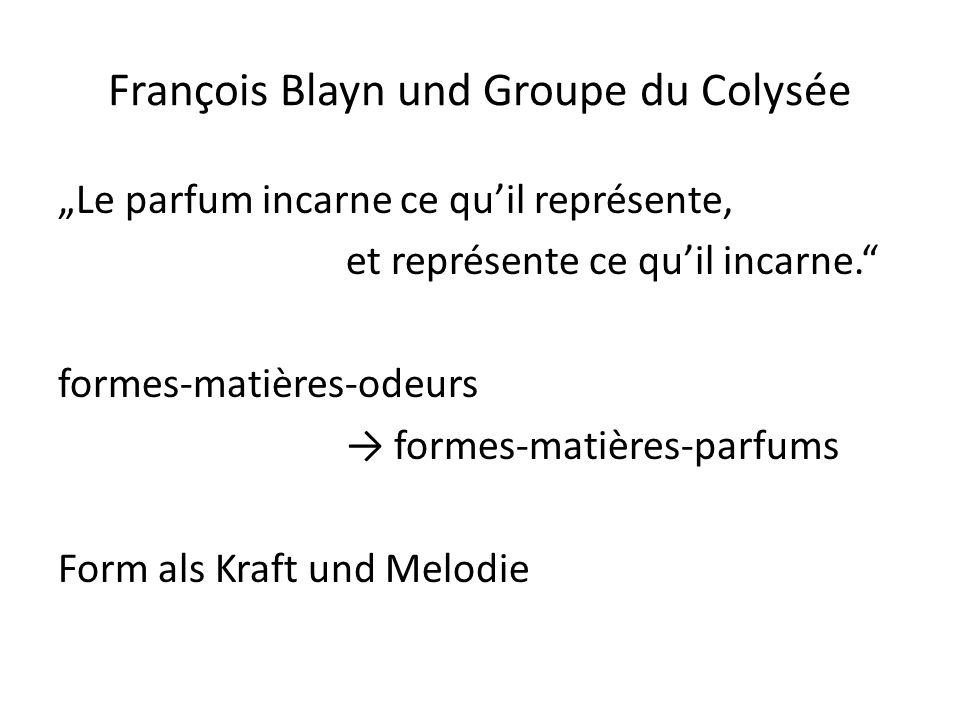 François Blayn und Groupe du Colysée