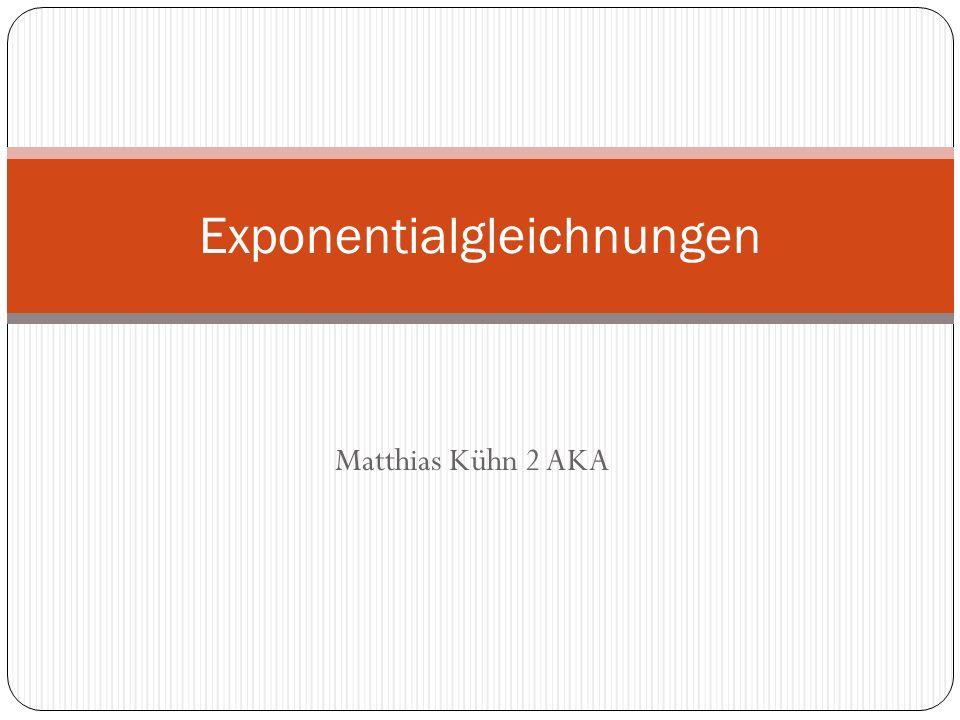 Exponentialgleichnungen