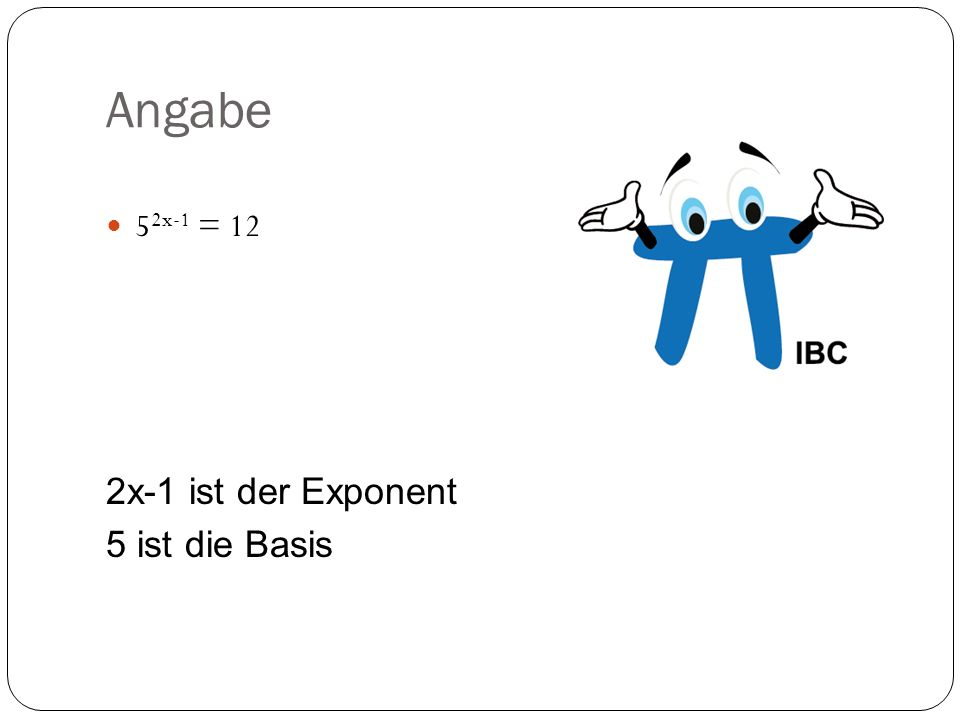 Exponentialgleichnungen - ppt herunterladen