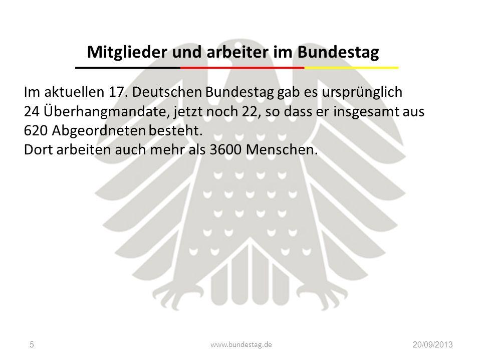 Mitglieder und arbeiter im Bundestag