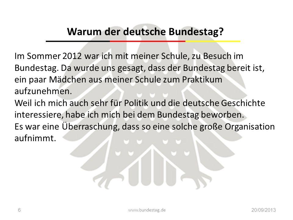 Warum der deutsche Bundestag