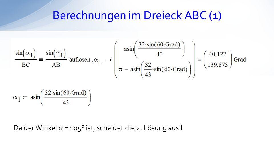 Berechnungen im Dreieck ABC (1)