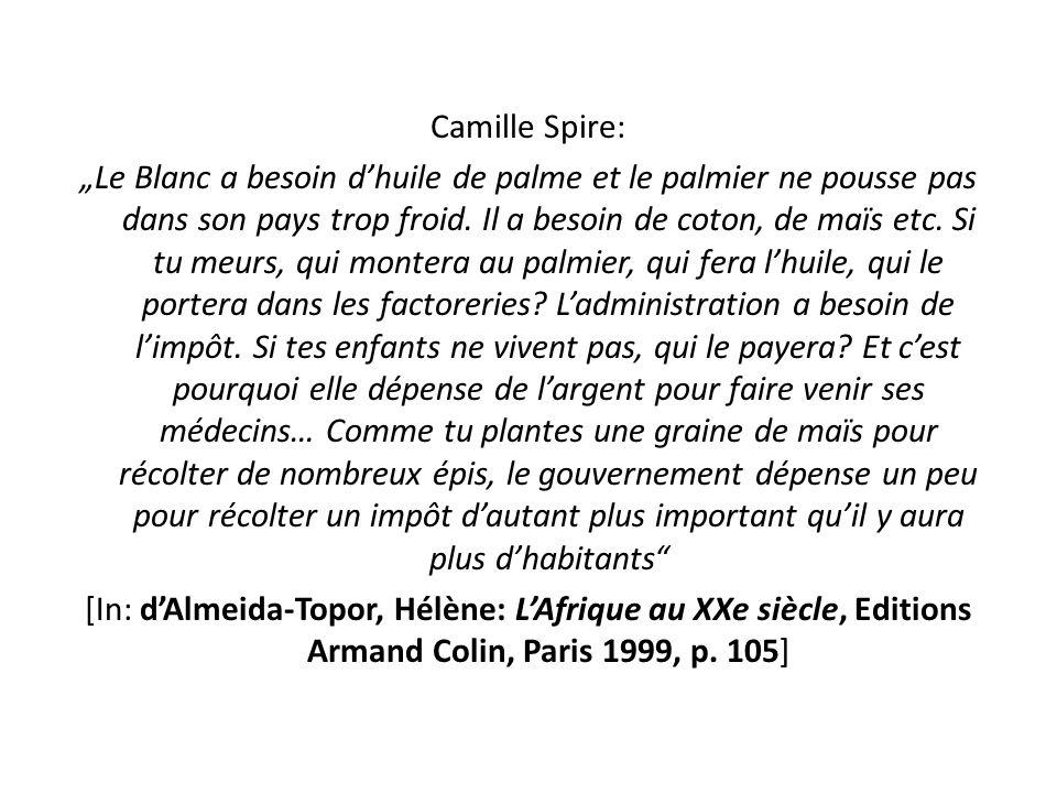 """Camille Spire: """"Le Blanc a besoin d'huile de palme et le palmier ne pousse pas dans son pays trop froid."""