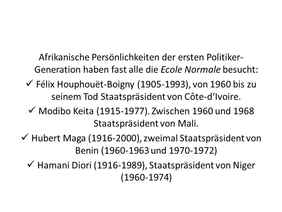 Hamani Diori (1916-1989), Staatspräsident von Niger (1960-1974)