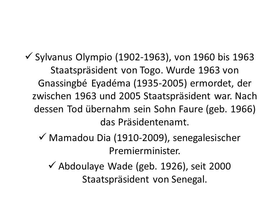 Mamadou Dia (1910-2009), senegalesischer Premierminister.