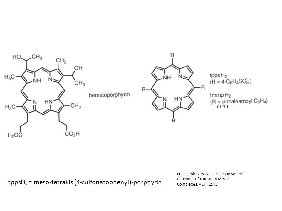 tppsH2 = meso-tetrakis (4-sulfonatophenyl)-porphyrin