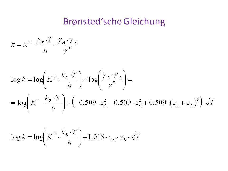 Brønsted'sche Gleichung