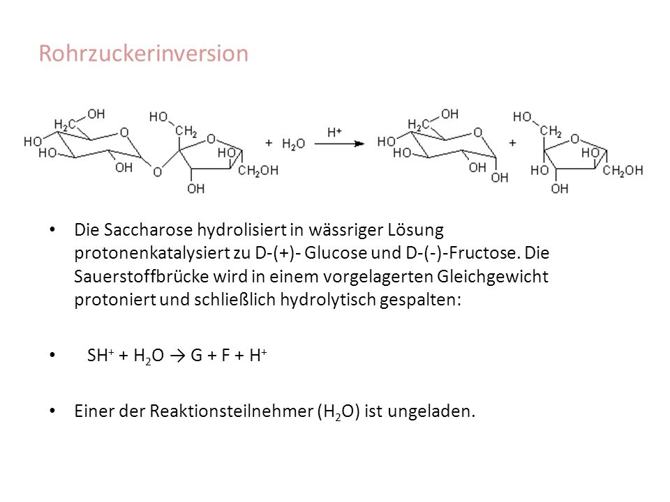 Rohrzuckerinversion