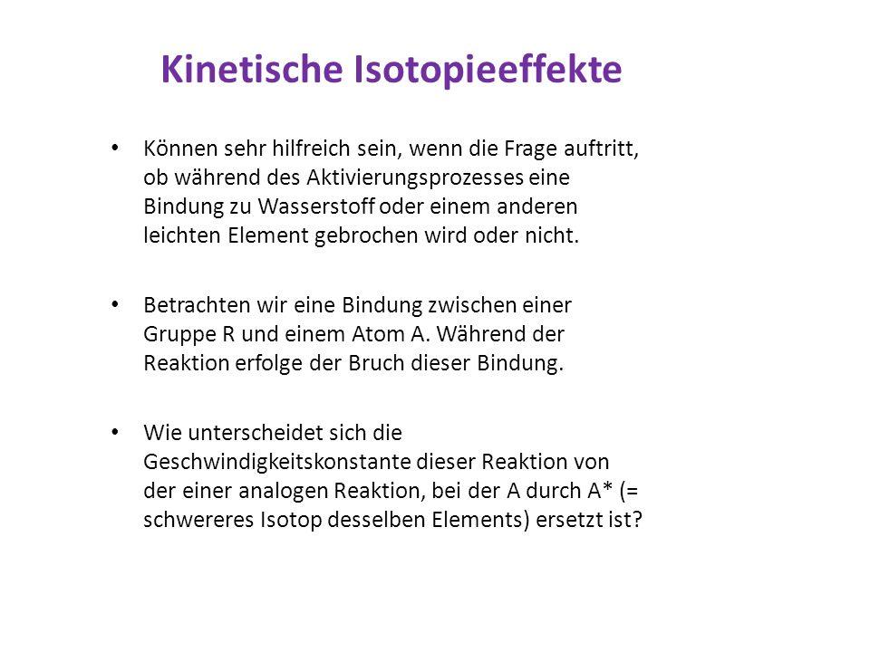 Kinetische Isotopieeffekte