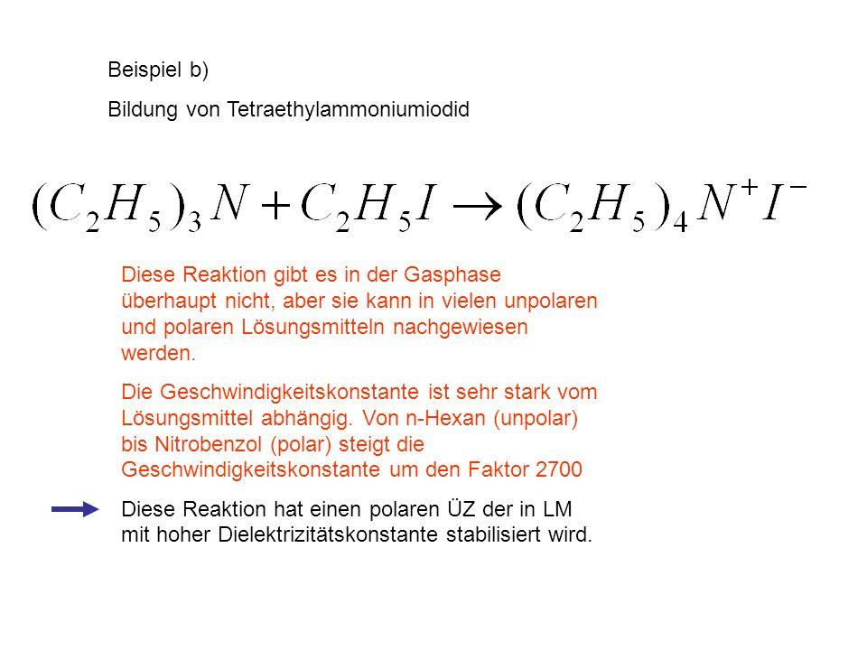 Beispiel b) Bildung von Tetraethylammoniumiodid.