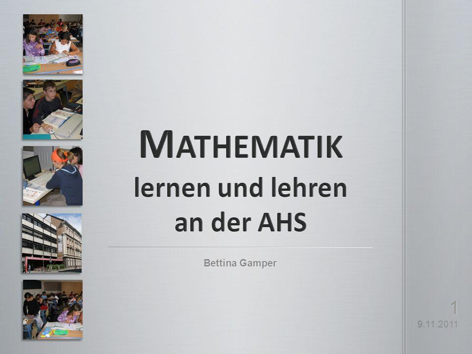 Mathematik lernen und lehren an der AHS