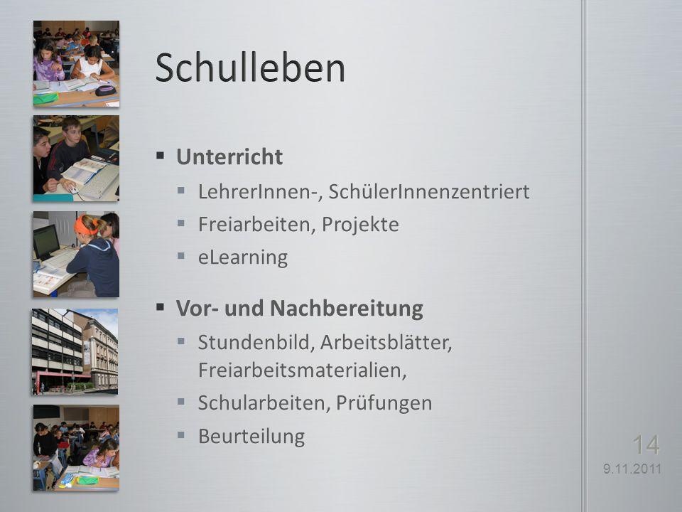 Schulleben Unterricht Vor- und Nachbereitung