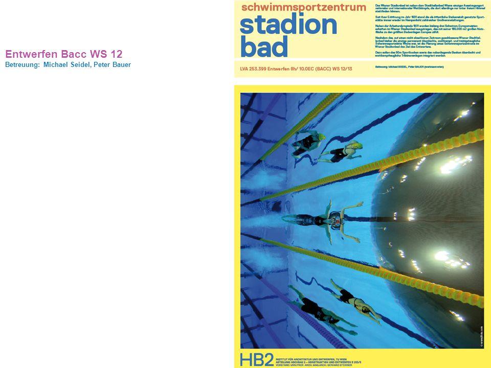 Entwerfen Bacc WS 12 Betreuung: Michael Seidel, Peter Bauer