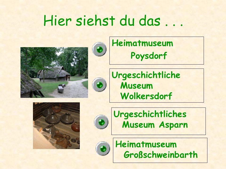 Hier siehst du das . . . Heimatmuseum Poysdorf