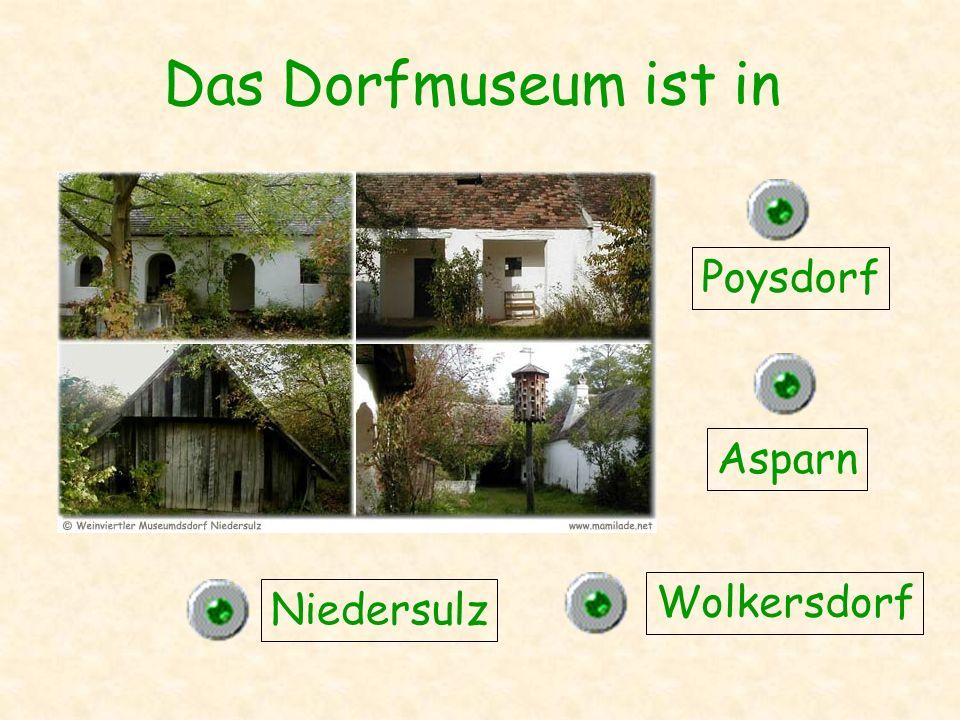 Das Dorfmuseum ist in Poysdorf Asparn Wolkersdorf Niedersulz