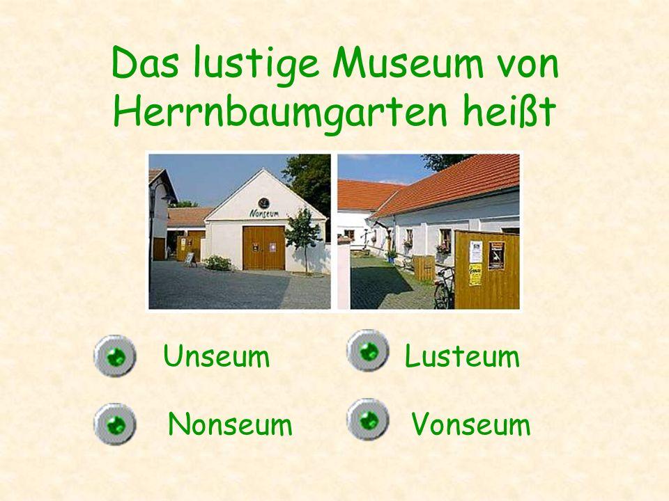 Das lustige Museum von Herrnbaumgarten heißt