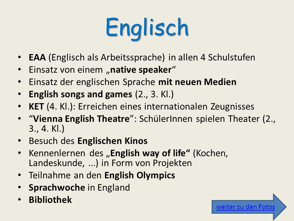 Team kennenlernen englisch