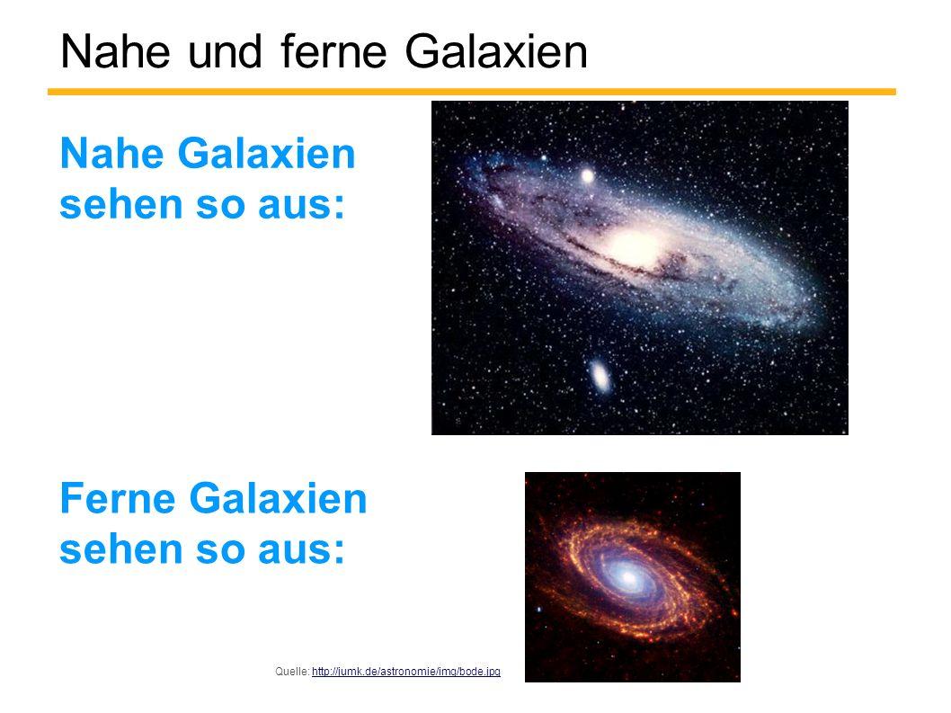 Nahe und ferne Galaxien