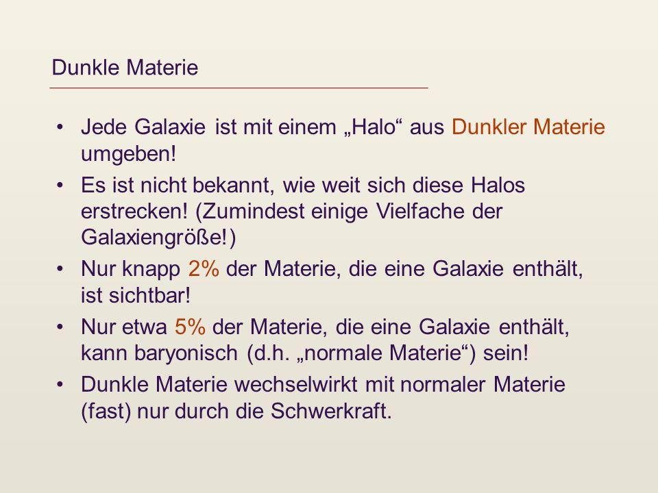 """Dunkle Materie Jede Galaxie ist mit einem """"Halo aus Dunkler Materie umgeben!"""