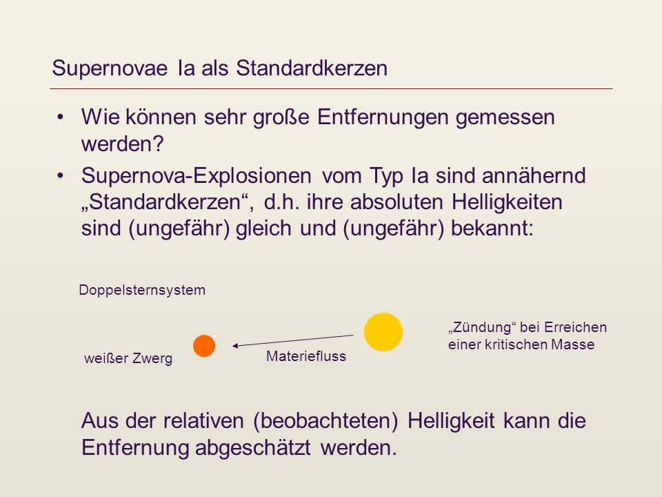 Supernovae Ia als Standardkerzen