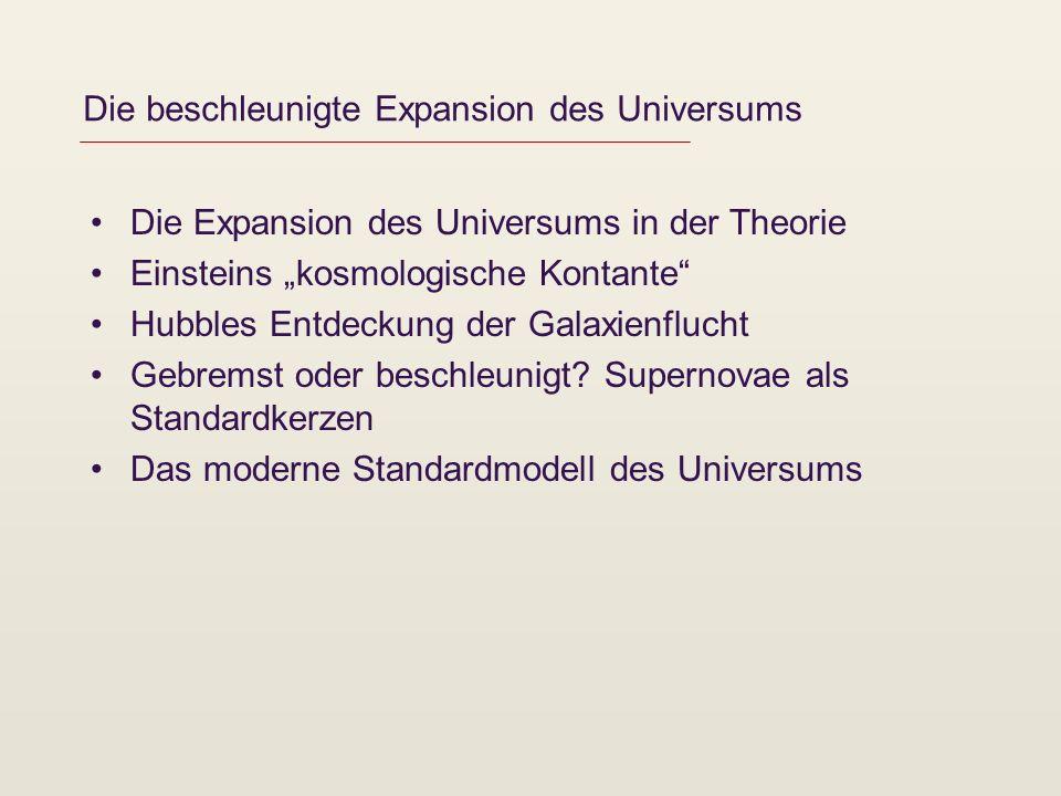Die beschleunigte Expansion des Universums