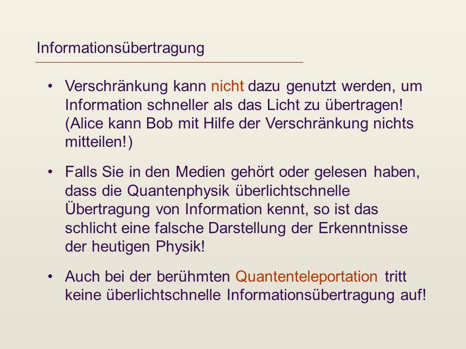 Informationsübertragung