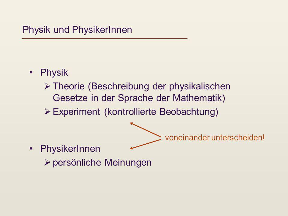 Physik und PhysikerInnen