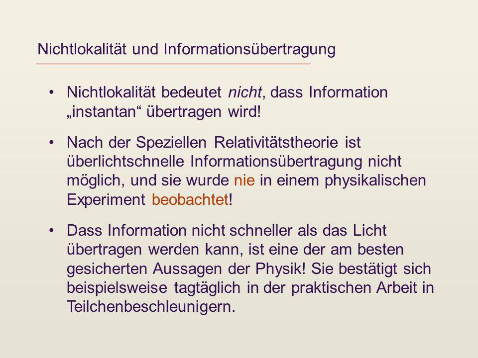 Nichtlokalität und Informationsübertragung