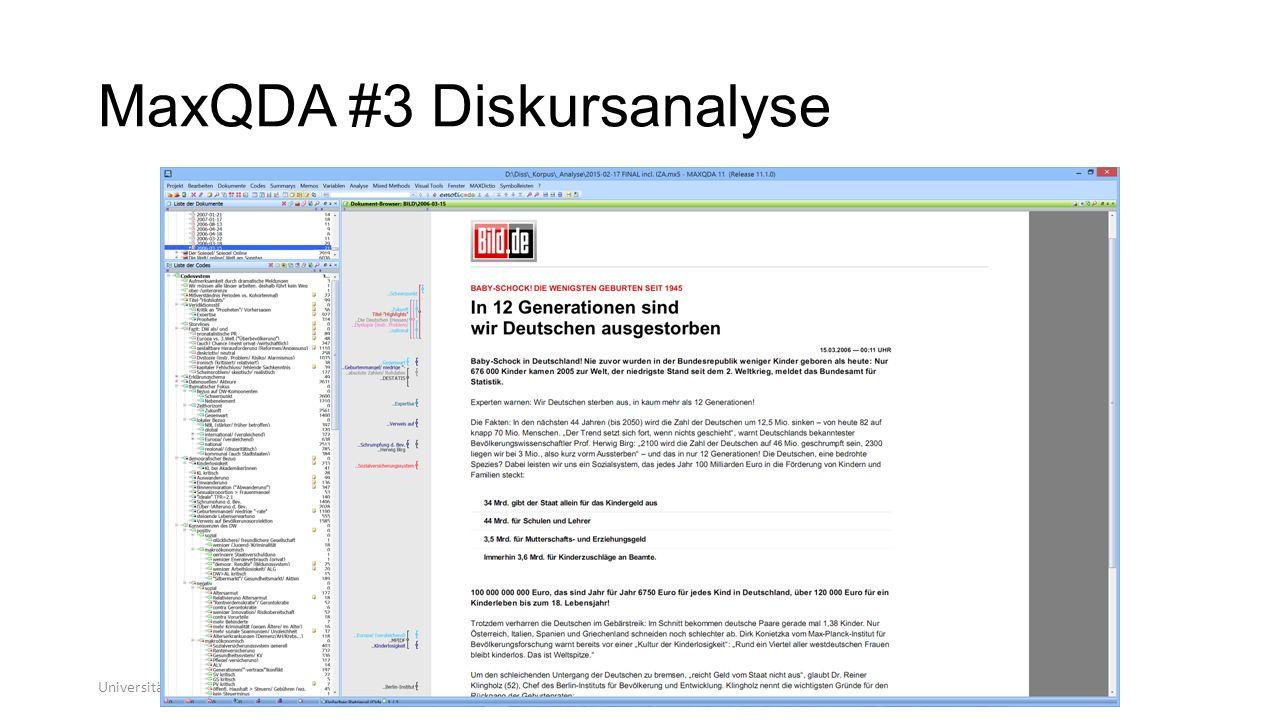 MaxQDA #3 Diskursanalyse
