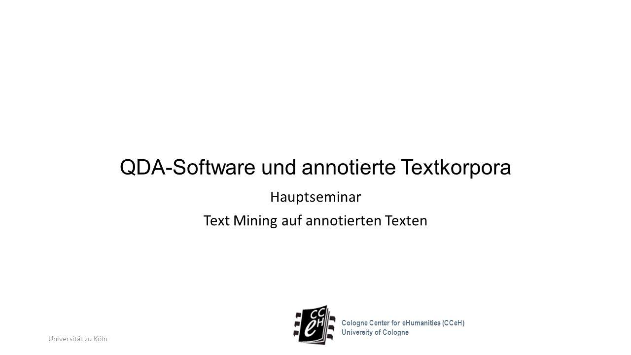 QDA-Software und annotierte Textkorpora