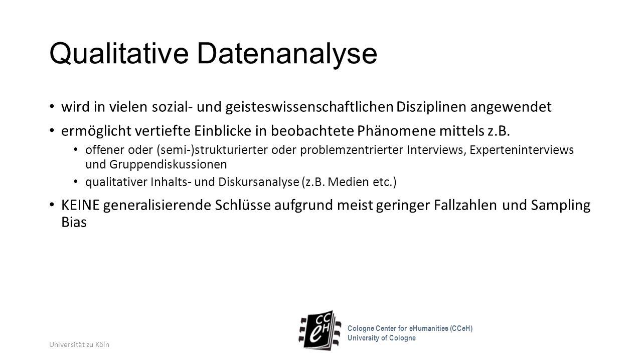 Qualitative Datenanalyse