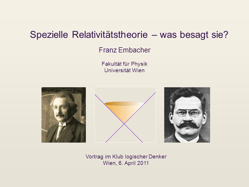 Spezielle Relativitätstheorie – was besagt sie