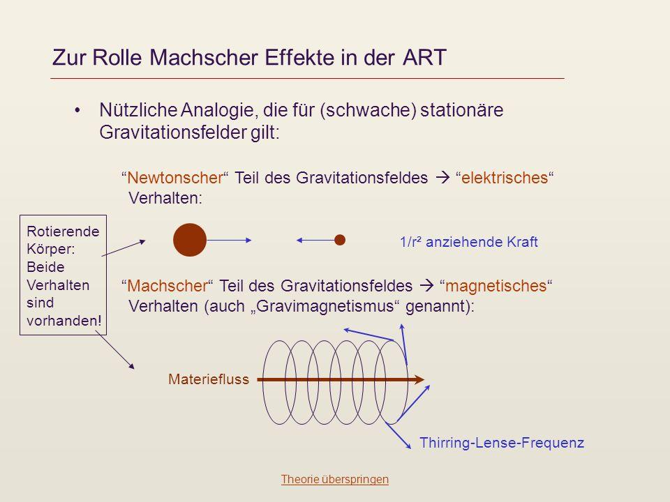 Zur Rolle Machscher Effekte in der ART
