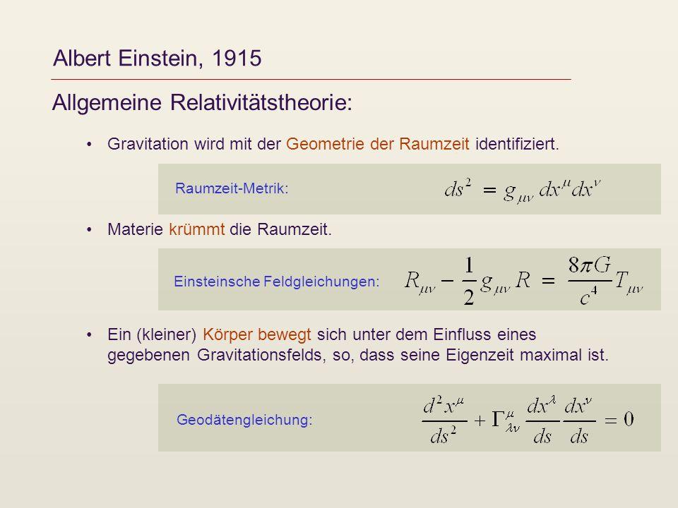 Allgemeine Relativitätstheorie: