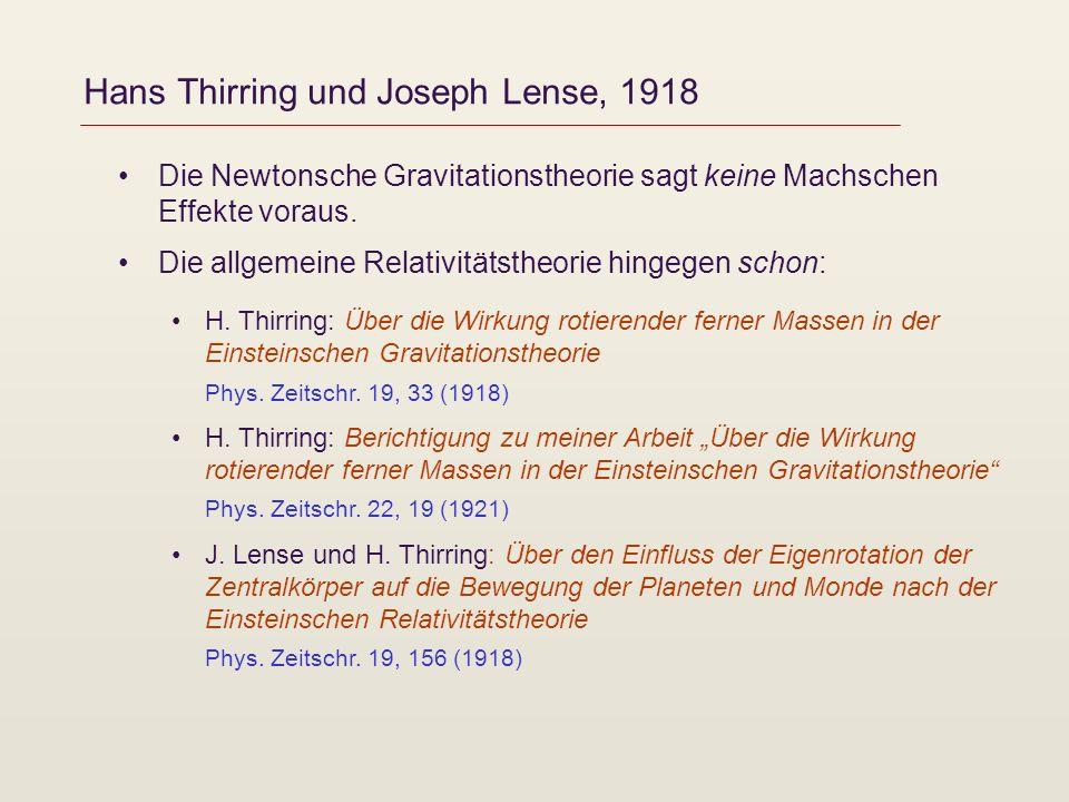 Hans Thirring und Joseph Lense, 1918