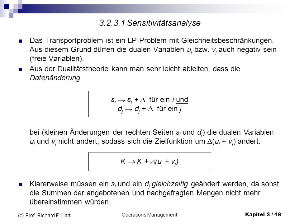 3.2.3.1 Sensitivitätsanalyse