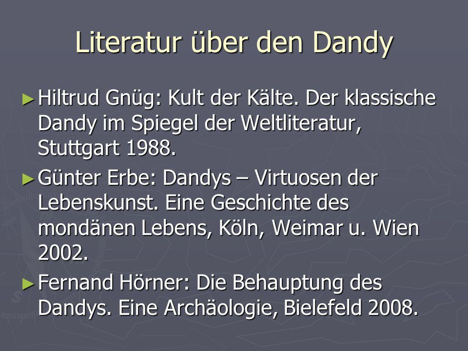Literatur über den Dandy