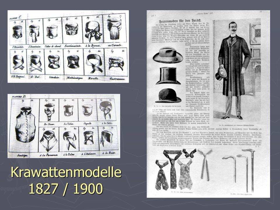 Krawattenmodelle 1827 / 1900