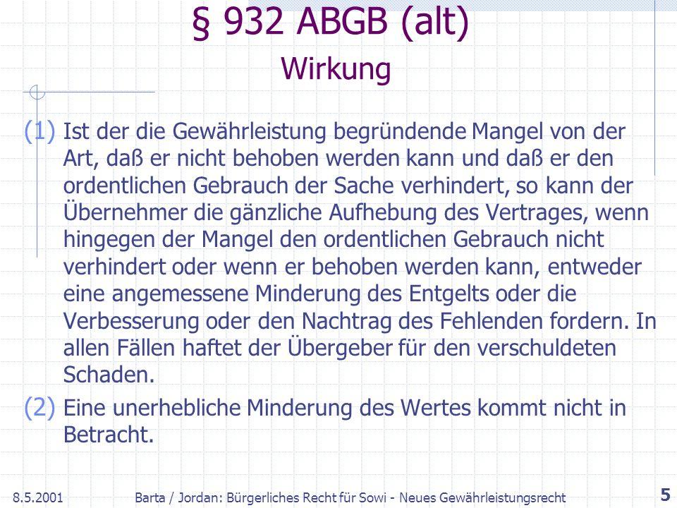 § 932 ABGB (alt) Wirkung