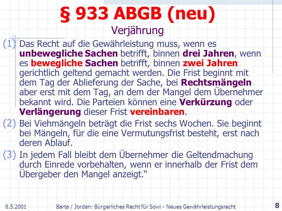 § 933 ABGB (neu) Verjährung