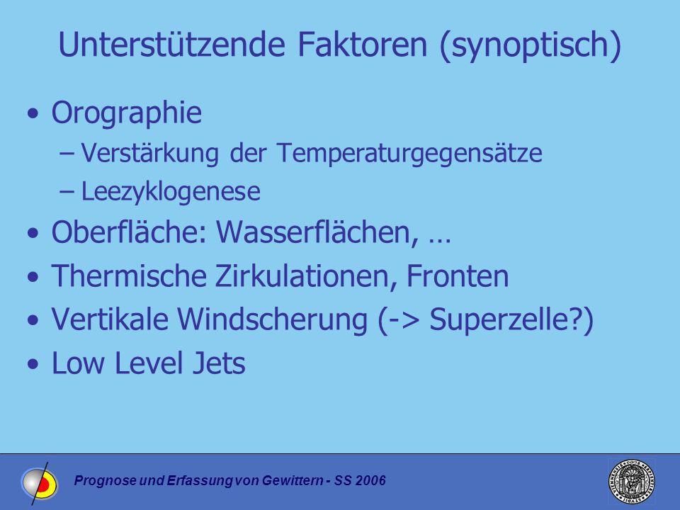 Unterstützende Faktoren (synoptisch)