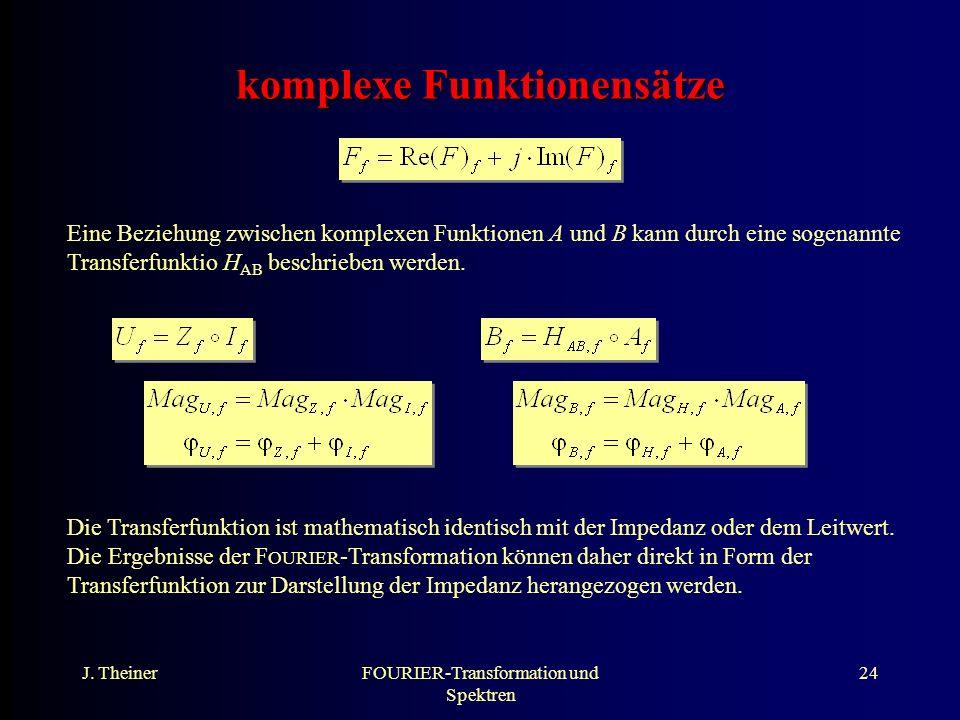 komplexe Funktionensätze
