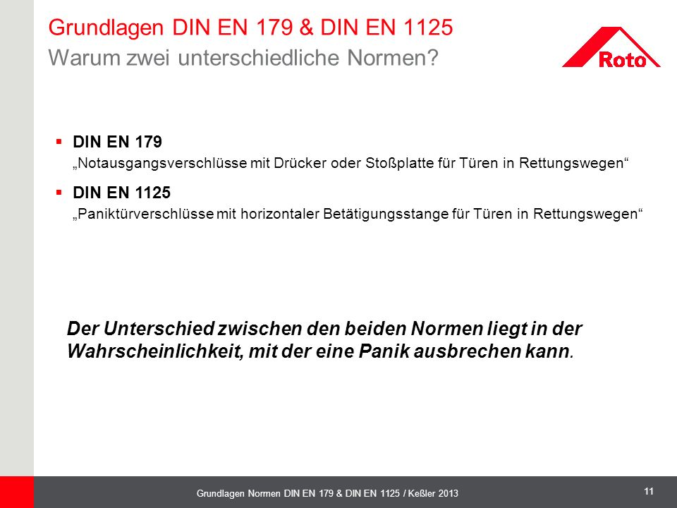 Grundlagen DIN EN 179 & DIN EN 1125