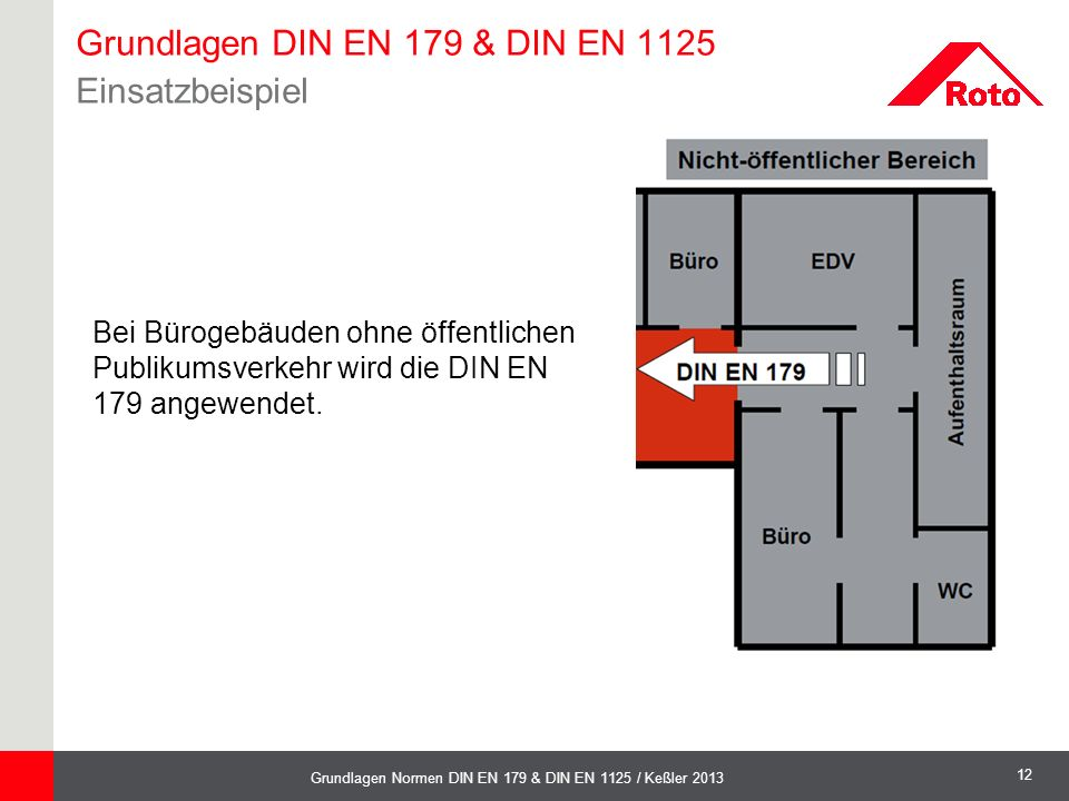 Grundlagen DIN EN 179 & DIN EN 1125 Einsatzbeispiel