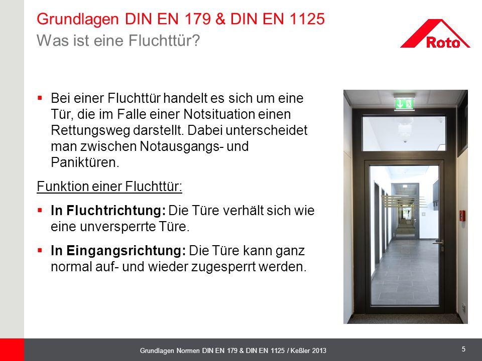 Grundlagen DIN EN 179 & DIN EN 1125 Was ist eine Fluchttür
