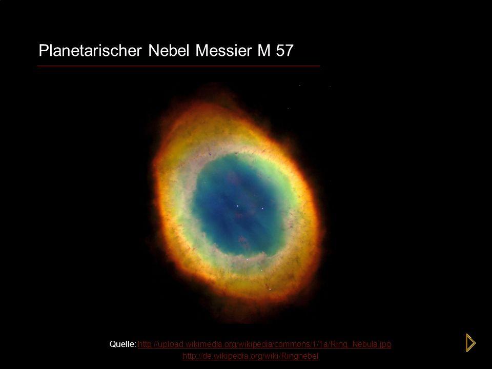 Planetarischer Nebel Messier M 57