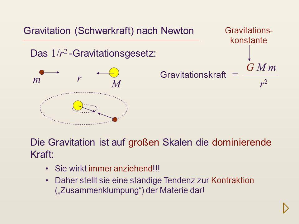 Gravitation (Schwerkraft) nach Newton